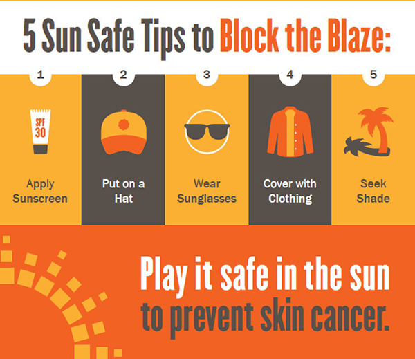 five sun safe tips